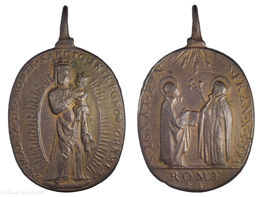 Virgen de Monte Santo de Bohemia ( Svatá Hora) A.H/ San Ignacio de Loyola y San Francisco Javier, F.T., S.XVII - (MAM) ( R.M. SXVII-O561)  Fin11