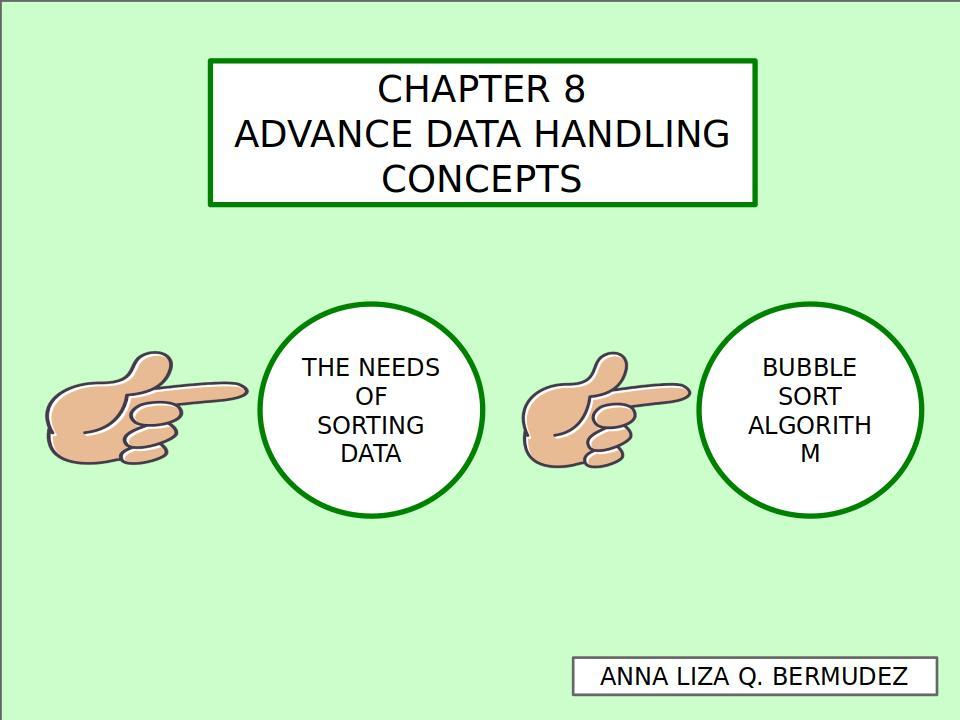 Refining the Bubble Sort 110