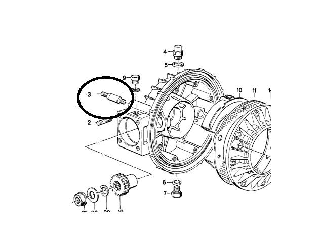 Fixation basse suspension bmw r65 1986 Gewind12