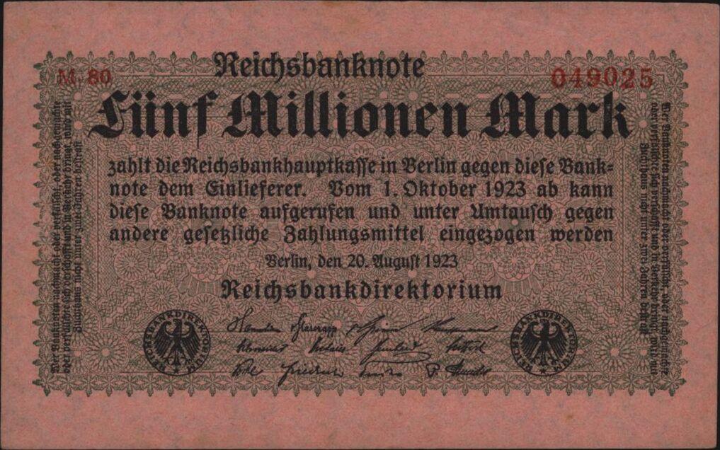 Eine Million Mark 1923 con una sobreimpresión de propaganda virulenta. - Página 4 26835610