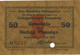 Consejo para billetes de campos de prisioneros alemanes Bankno10