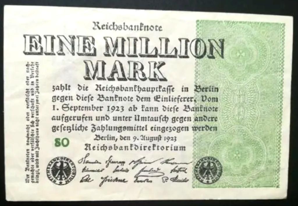 Eine Million Mark 1923 con una sobreimpresión de propaganda virulenta. Img_2062