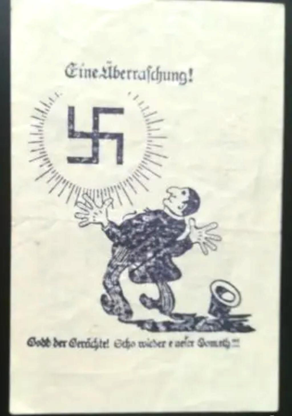 Eine Million Mark 1923 con una sobreimpresión de propaganda virulenta. Img_2063