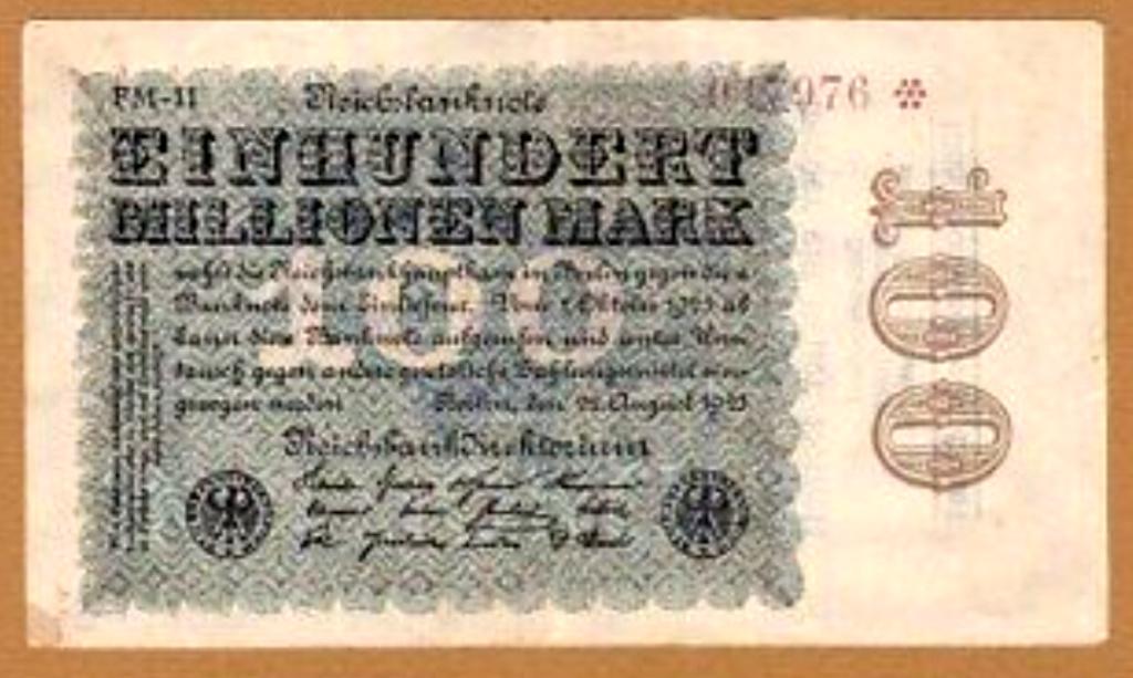 Eine Million Mark 1923 con una sobreimpresión de propaganda virulenta. Img_2065