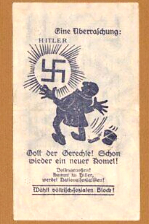 Eine Million Mark 1923 con una sobreimpresión de propaganda virulenta. Img_2159