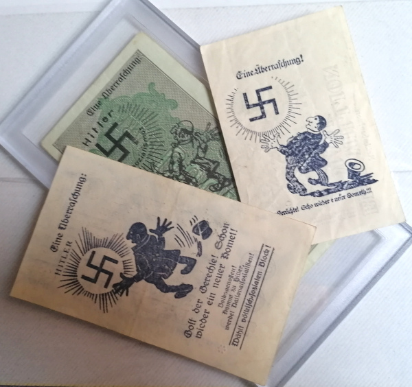 Eine Million Mark 1923 con una sobreimpresión de propaganda virulenta. Img_2172