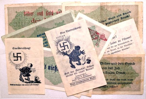 Eine Million Mark 1923 con una sobreimpresión de propaganda virulenta. Img_2173