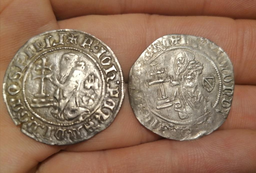 Gigliato de Frey Juan Fernández de Heredia (1376-1396) acuñado por la Orden de San Juan de Jerusalén, en Rodas.  Img_2242