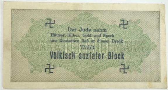 Eine Million Mark 1923 con una sobreimpresión de propaganda virulenta. - Página 4 Img_2262