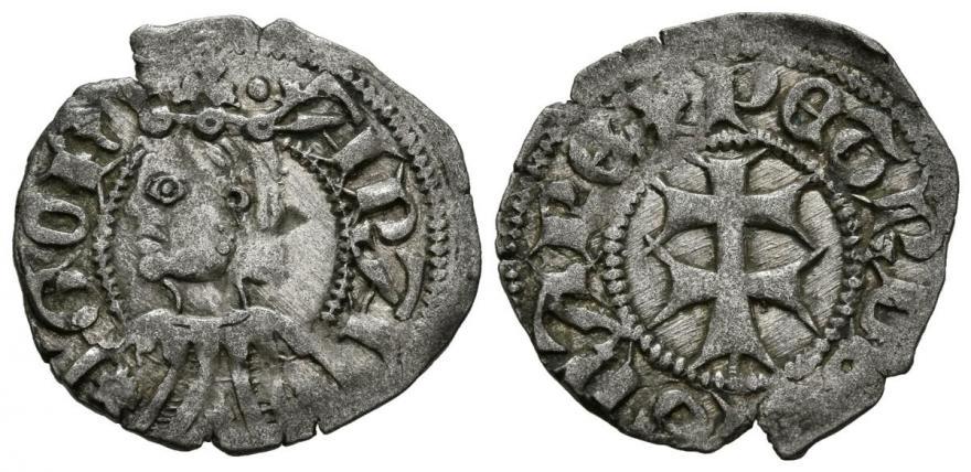 Dinero Pedro IV (1336-1387). Zaragoza Pedro-11