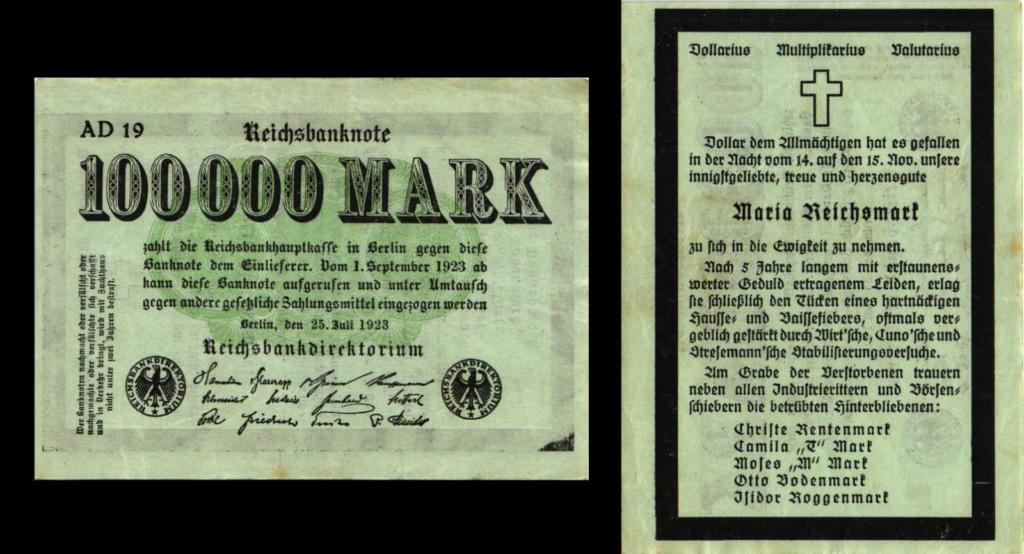Eine Million Mark 1923 con una sobreimpresión de propaganda virulenta. S-l16015