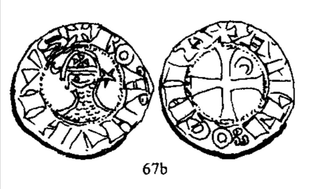 Dinero de Bohemundo III. Principado de Antioquía (1163-1201).  Scree122