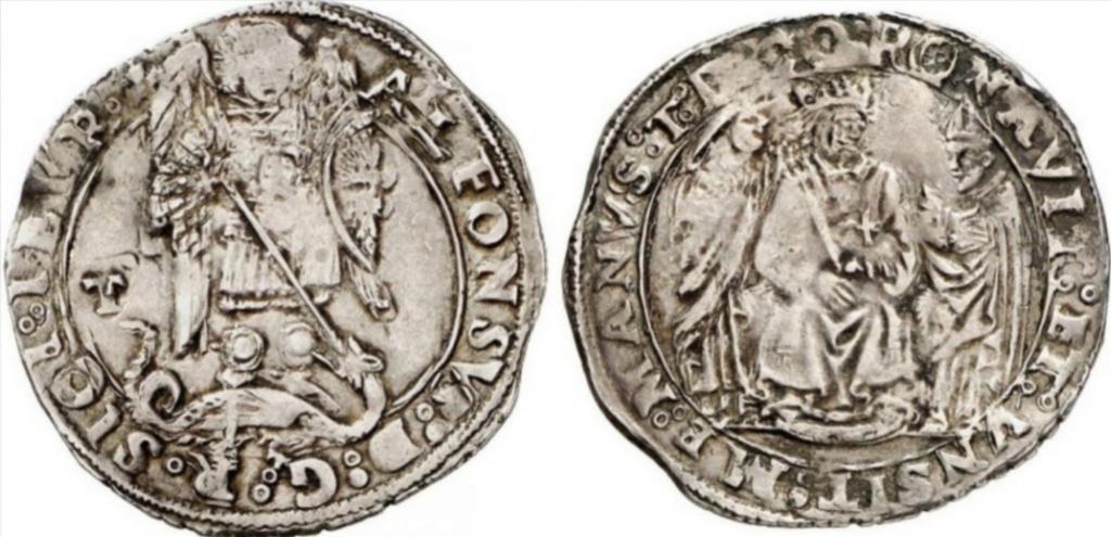 Rama napolitana de la Casa de Aragón. Coronato Alfonso II (1494-1495)  Scree127