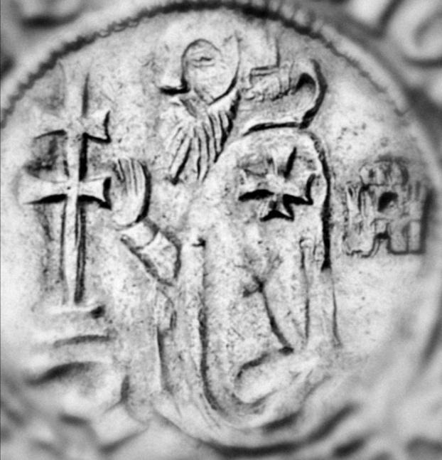 Gigliato de Frey Juan Fernández de Heredia (1376-1396) acuñado por la Orden de San Juan de Jerusalén, en Rodas.  Scree132