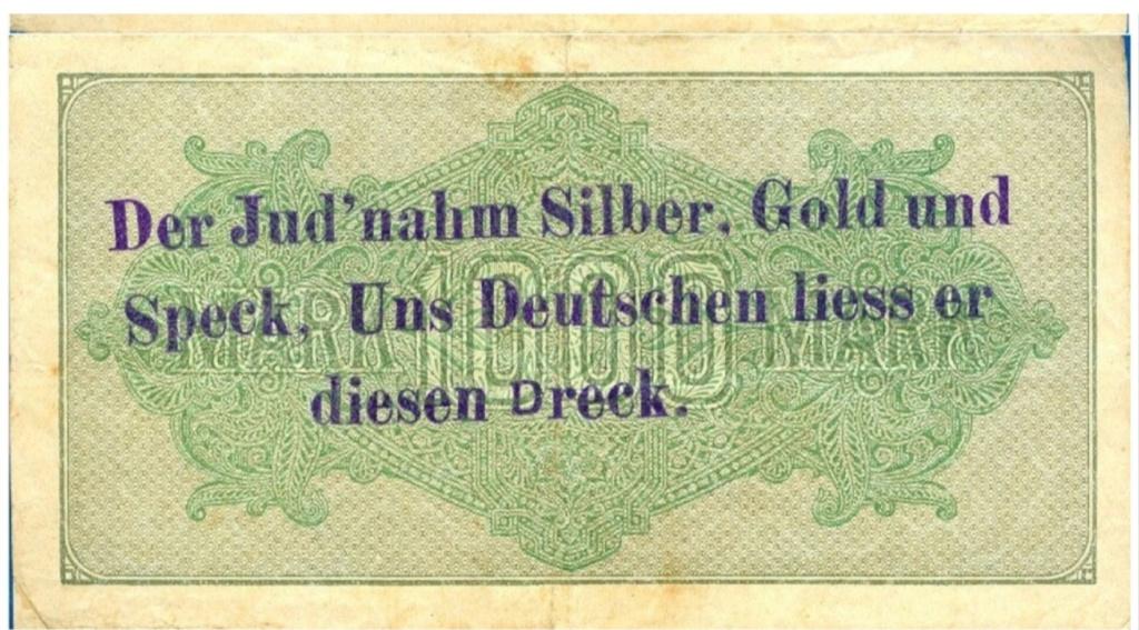 Eine Million Mark 1923 con una sobreimpresión de propaganda virulenta. - Página 4 Scree161
