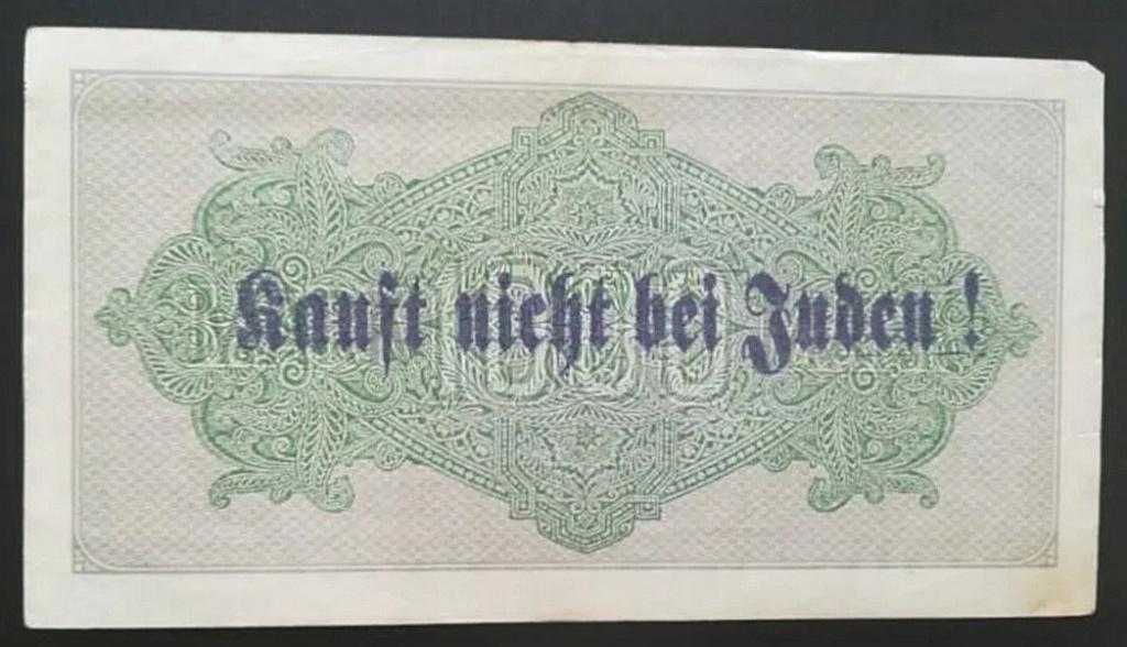 Eine Million Mark 1923 con una sobreimpresión de propaganda virulenta. Screen19