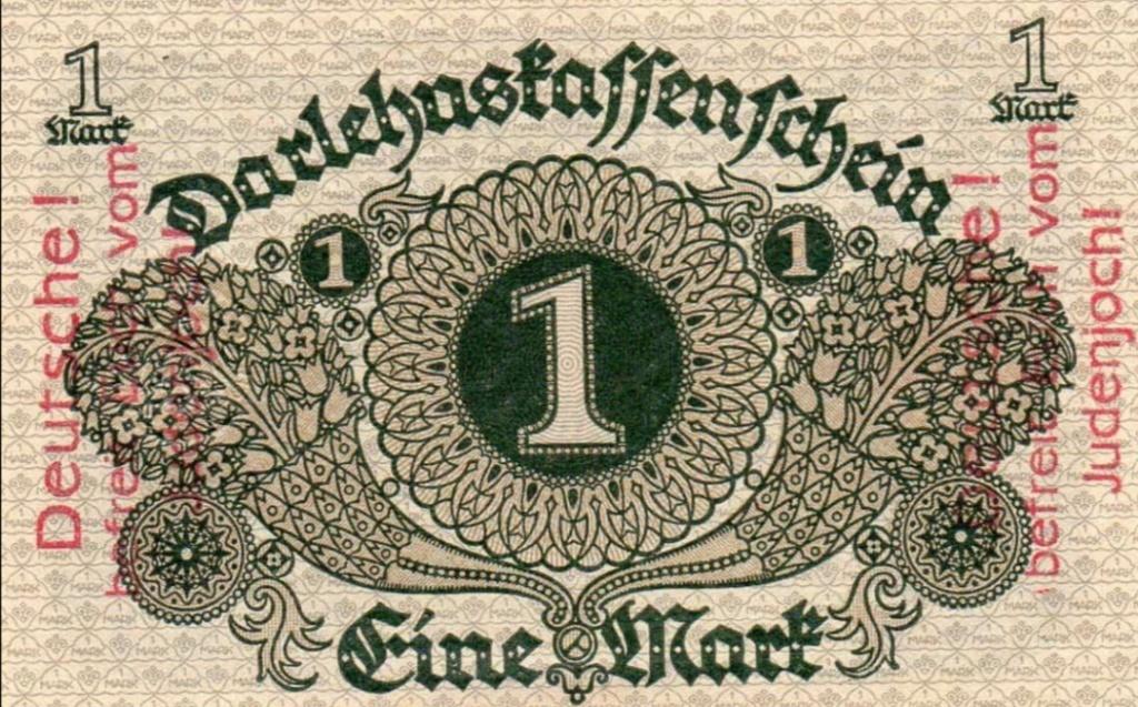 Eine Million Mark 1923 con una sobreimpresión de propaganda virulenta. - Página 2 Screen24
