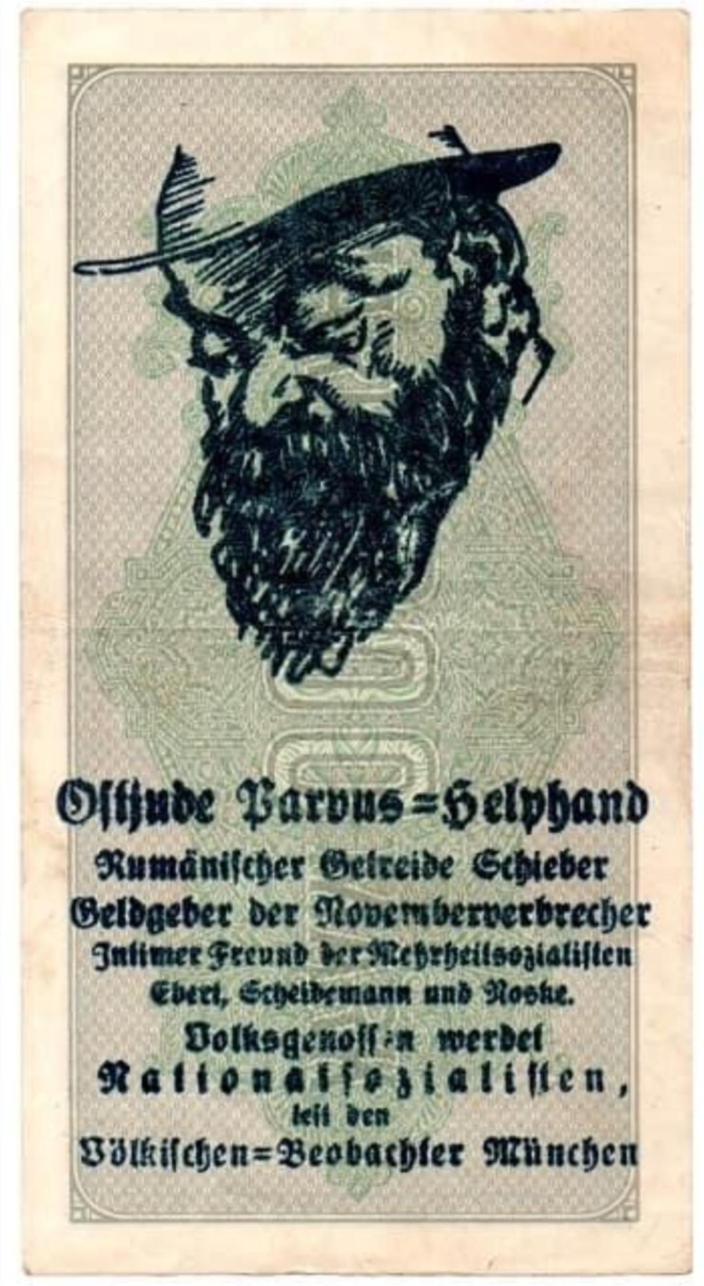Eine Million Mark 1923 con una sobreimpresión de propaganda virulenta. - Página 2 Screen26