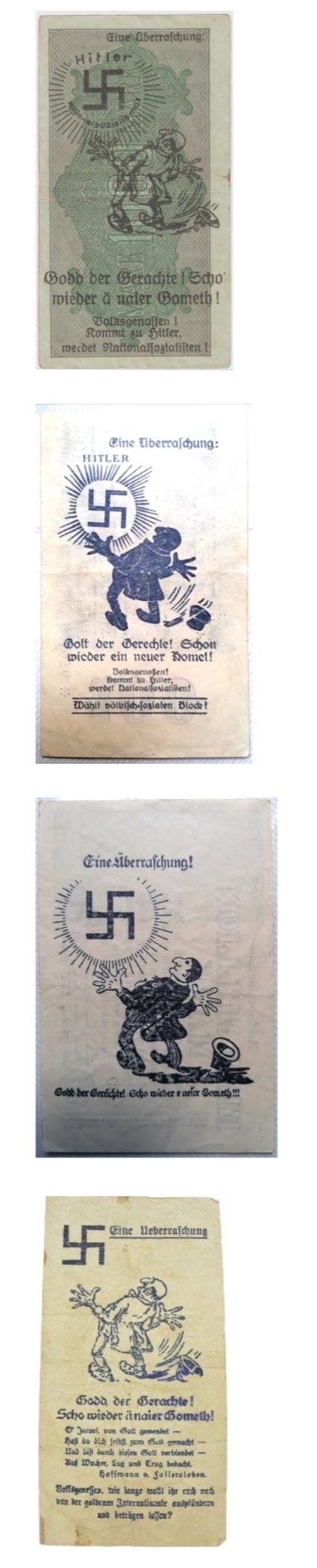 Eine Million Mark 1923 con una sobreimpresión de propaganda virulenta. - Página 3 Screen28