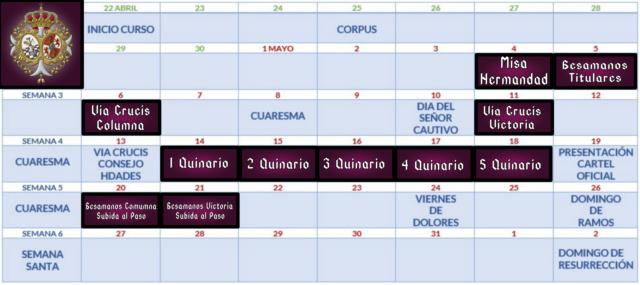Calendario de cultos  Img_2231