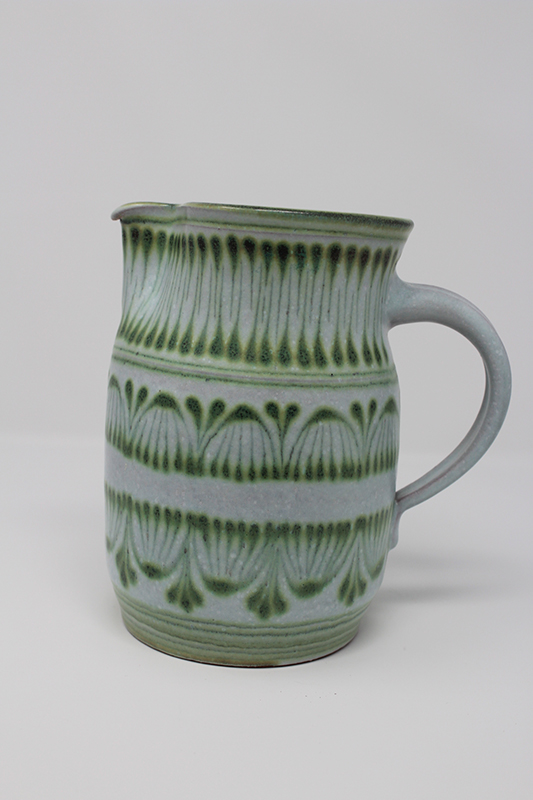 Light Blue Patterned Glazed Pitcher - Wilhelm & Elly Kuch  Img_0310