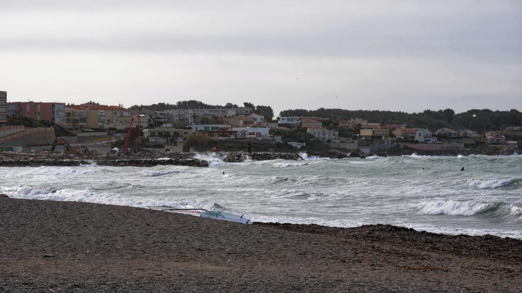 Fin de tempête en baie de Sanary Baie410