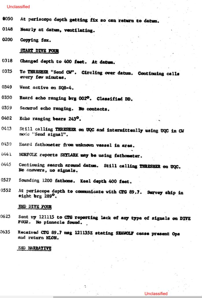 U.S Navy documents declassified, SSN thresher had survivors on board. 13010