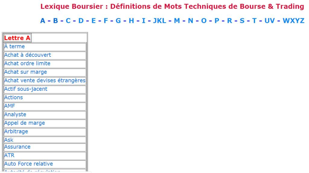 Intégrer un Lexique sous forme word à son forum (HTML) Lexiqu14