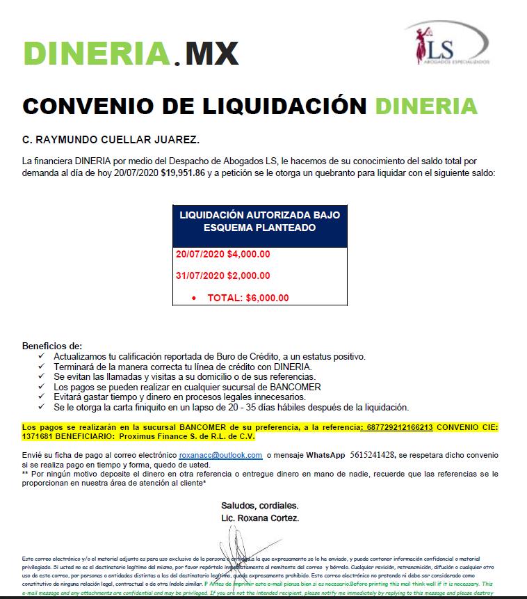 CARTA CONVENIO DINERIA Captur11