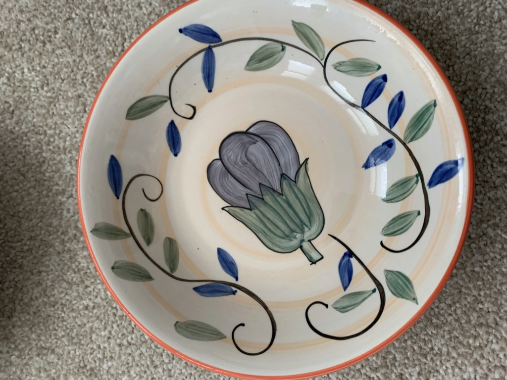 Hand Painted Aubergine and Grapes Dishes ID Help Img_0511