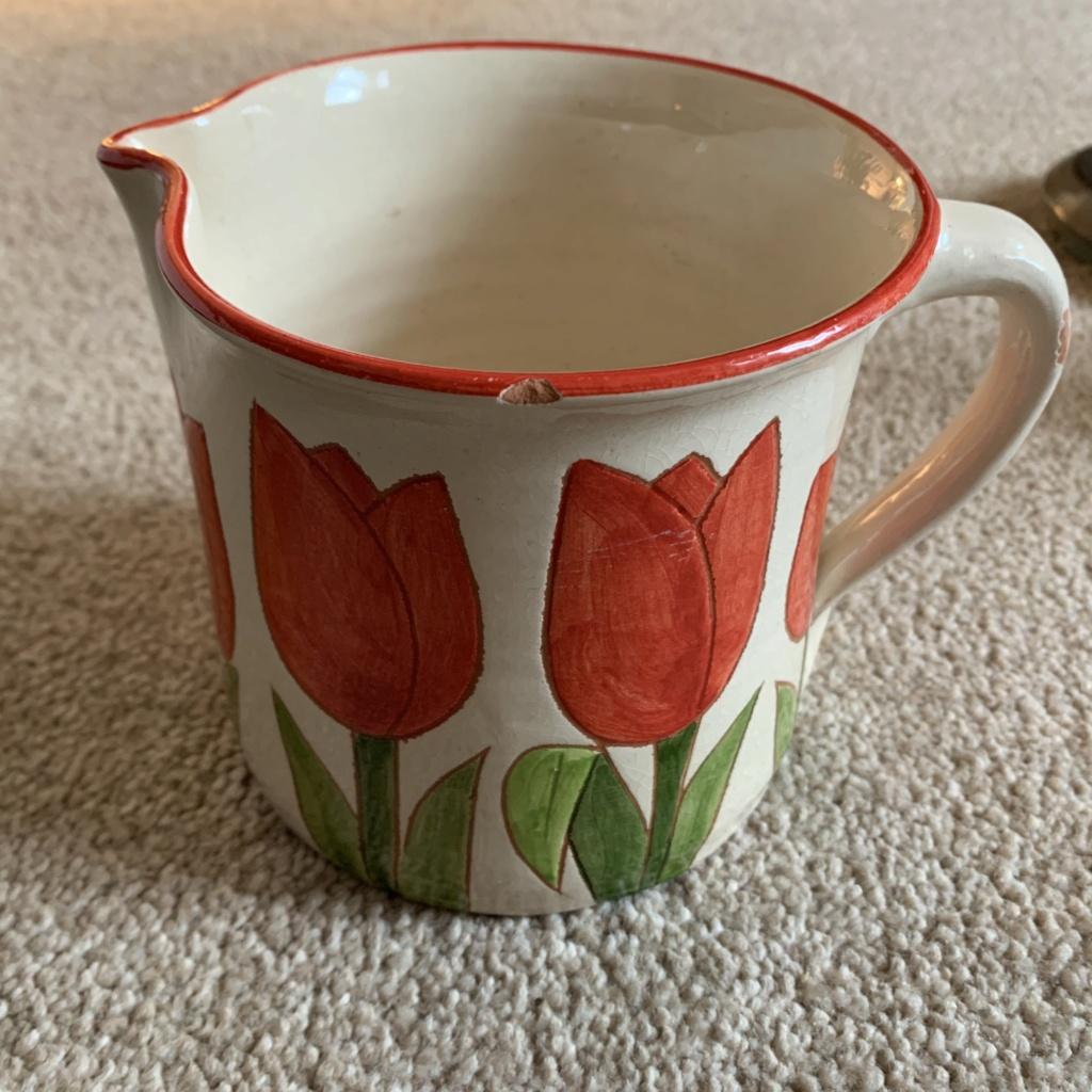 Signed Hand Painted Tulip Jug ID Help Img_1213