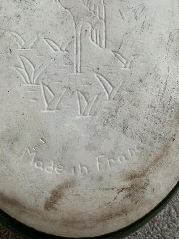 Dish Made In France with Bird mark - CCF CIGOGNE Img_1312