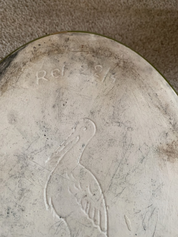 Dish Made In France with Bird mark - CCF CIGOGNE Img_1314