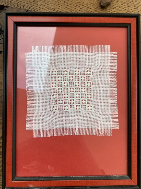 Framed White Thread Pieces ID Help Img_4323