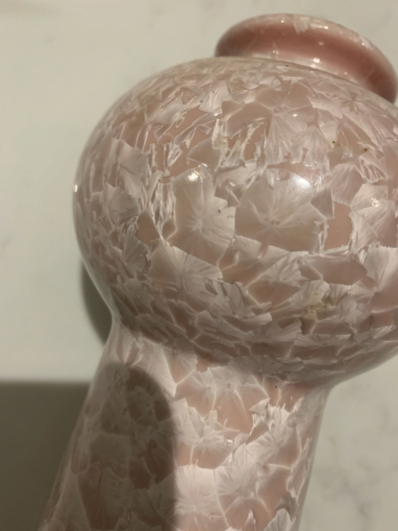 Pink Ceramic Vase With Pearl Like Shards / Circles ID Help Img_4410