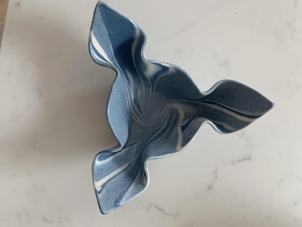 Molded Clay Trinket Dish, spiral or ammonite mark - Ron Payne  Img_5033