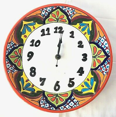 Mexican art ceramic clock Mexica10