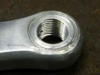 Réparation d'un filetage de manivelle 14x125 Repara20