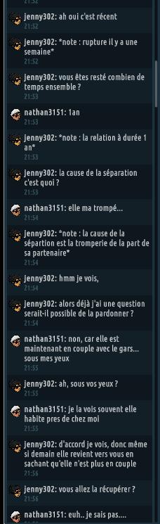 [C.H.U] Rapports d'actions RP de jenny302 Rp215