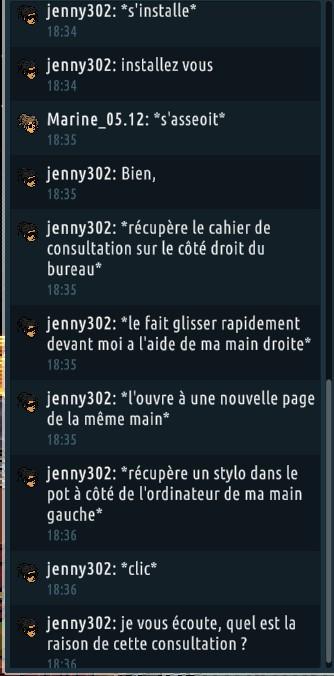 [C.H.U] Rapports d'actions RP de jenny302 - Page 2 Rp231
