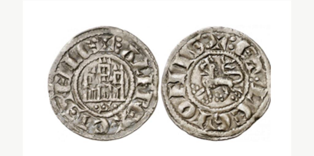 Dinero prieto de Alfonso X. Sevilla. Emisión 1270 d C. 6fd4a210