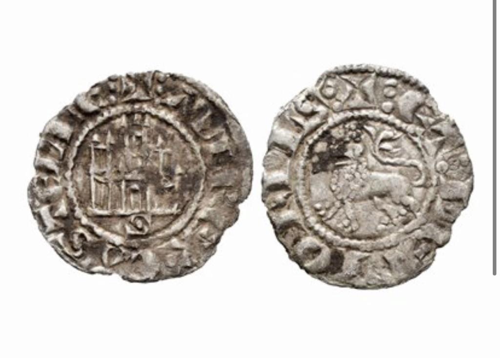 Dinero prieto de Alfonso X. Sevilla. Emisión 1270 d C. 871be610