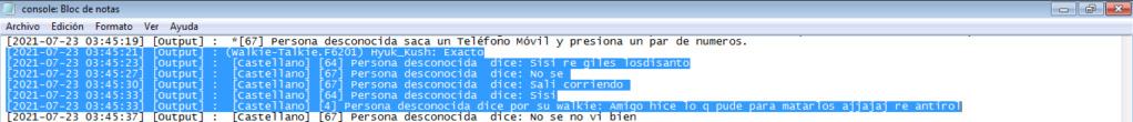 Reporte Diego Mora y Esquina (PG-MG-DM-NRE-NRA-mal uso de canales-anti rol general) Log310