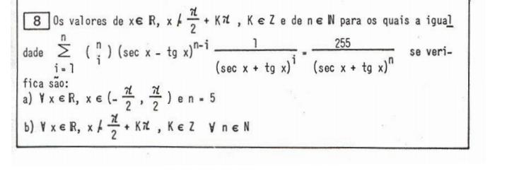 ITA-86-Q. 8: Solução da equação trigonométrica Q10