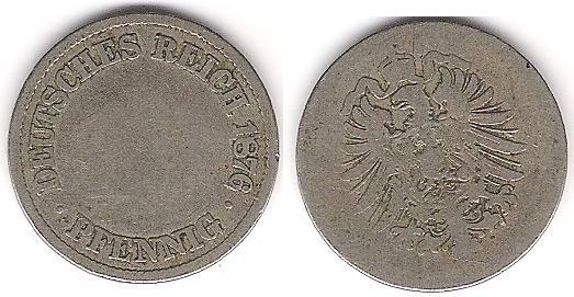 10 pfennig en cupro-nickel de 1876 Monnai12