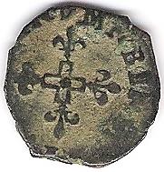 liard à la croix cléchée frappée à Aix en 1592 Photo_18
