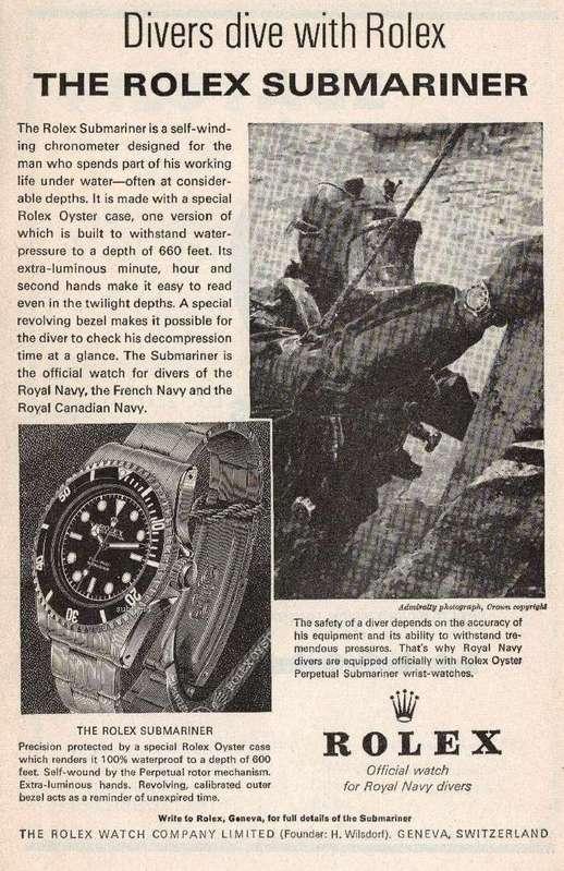 vieilles publicites rolex Divers10