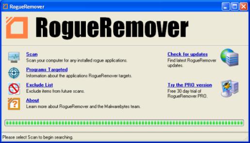 Le logiciel RogueRemover Free est à désinstaller Roguer10