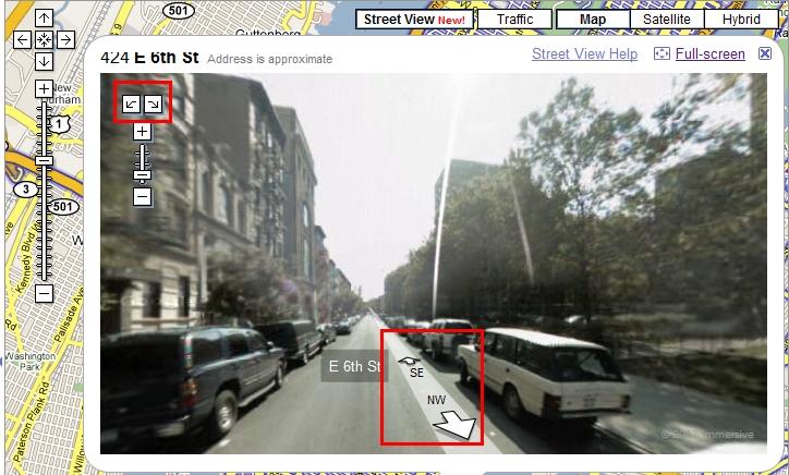 Google Maps Navigation dans les rues Google10