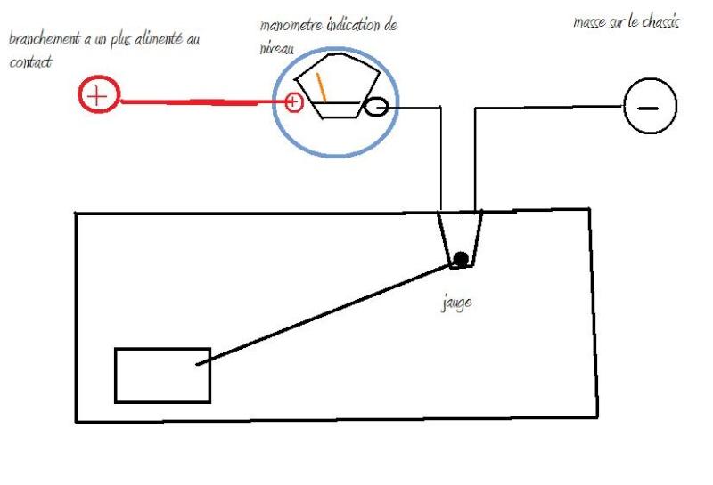 schema branchement jauge a essence sur cj7